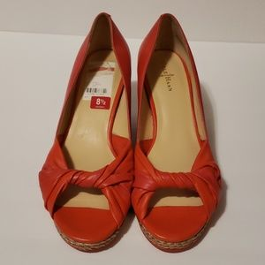 COLE HAAN Ava Open Toe Wedge size 8.5